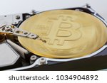 disassembled hard disk without... | Shutterstock . vector #1034904892