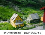 country houses in flam  norway | Shutterstock . vector #1034906758