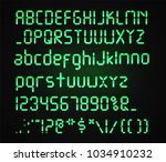 digital green font isolated on... | Shutterstock .eps vector #1034910232