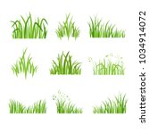 grass icon. silhouette of green ... | Shutterstock .eps vector #1034914072