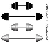 four simple gym weights. black... | Shutterstock .eps vector #1034915086