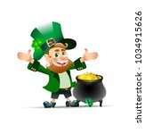 st.patrick day holiday poster... | Shutterstock .eps vector #1034915626