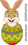 easter bunny hatched from an... | Shutterstock .eps vector #1034916316