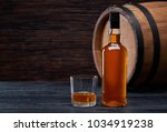 Bottle Of Whiskey On...
