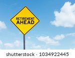 picture of yellow highway sign... | Shutterstock . vector #1034922445