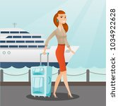 young caucasian white passenger ... | Shutterstock .eps vector #1034922628