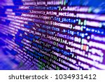 Small photo of Programming code abstract technology. Developing programming and coding technologies. Software development. Programing workflow abstract algorithm concept. Freeware open source project.