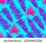 ultraviolet semless palm leaf... | Shutterstock .eps vector #1034942206