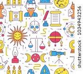 astrology house icons design... | Shutterstock .eps vector #1034943256