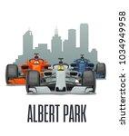 cityline albert park melbourne... | Shutterstock .eps vector #1034949958