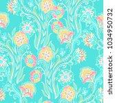 seamless vector floral pattern... | Shutterstock .eps vector #1034950732