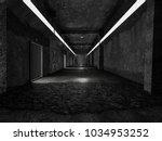 realistic old tunnel or science ... | Shutterstock . vector #1034953252