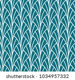 seamless art deco pattern.... | Shutterstock .eps vector #1034957332