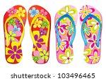 vector colorful flip flops  ... | Shutterstock .eps vector #103496465