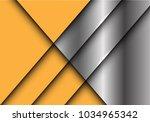 abstract yellow metal overlap... | Shutterstock .eps vector #1034965342