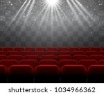red velvet chairs vector rows ... | Shutterstock .eps vector #1034966362