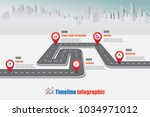 business road map timeline... | Shutterstock .eps vector #1034971012