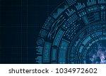 futuristic hud elements design  ... | Shutterstock . vector #1034972602