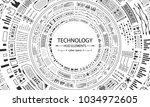 futuristic hud circles design ...