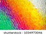 rainbow of water beads   Shutterstock . vector #1034973046