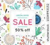 sale. floral pattern. hand...   Shutterstock .eps vector #1034993152