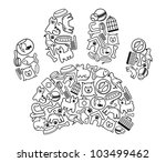 pet shop icons | Shutterstock .eps vector #103499462