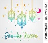 ramadan kareem beautiful... | Shutterstock .eps vector #1034997265