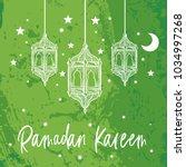 ramadan kareem beautiful... | Shutterstock .eps vector #1034997268