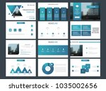 blue presentation template....   Shutterstock .eps vector #1035002656