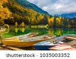 boat station on the beautiful...   Shutterstock . vector #1035003352
