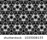 ornament with elements of black ... | Shutterstock . vector #1035008155