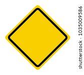 vector blank traffic sign...   Shutterstock .eps vector #1035009586