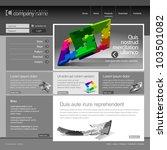 gray website template 960 grid.   Shutterstock .eps vector #103501082