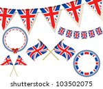set of union jack flags ... | Shutterstock .eps vector #103502075