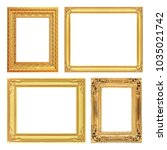 the antique gold frame on the... | Shutterstock . vector #1035021742