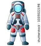 cartoon astronaut isolated on a ...   Shutterstock .eps vector #1035022198