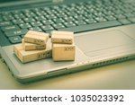 online shopping   ecommerce and ... | Shutterstock . vector #1035023392
