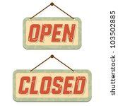 retro signs open and closed.... | Shutterstock .eps vector #103502885