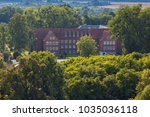 aerial view of the historical... | Shutterstock . vector #1035036118