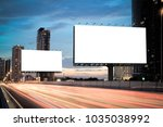 blank template  for outdoor... | Shutterstock . vector #1035038992