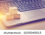 online shopping   ecommerce and ...   Shutterstock . vector #1035040015