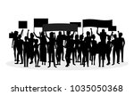 cartoon silhouette black... | Shutterstock .eps vector #1035050368