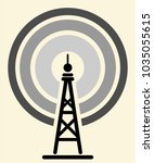tower icon transmission | Shutterstock .eps vector #1035055615