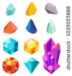 precious stones collection... | Shutterstock .eps vector #1035055888