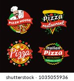 pizza places of high quality... | Shutterstock .eps vector #1035055936