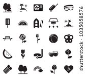 solid black vector icon set  ... | Shutterstock .eps vector #1035058576
