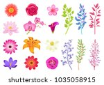bright gorgeous flowers and... | Shutterstock .eps vector #1035058915
