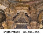 Carved Pillars And Ceiling Of...
