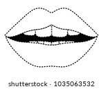 sensuality lips with teeth | Shutterstock .eps vector #1035063532