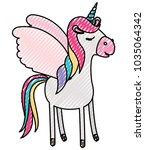cute unicorn kawaii character | Shutterstock .eps vector #1035064342